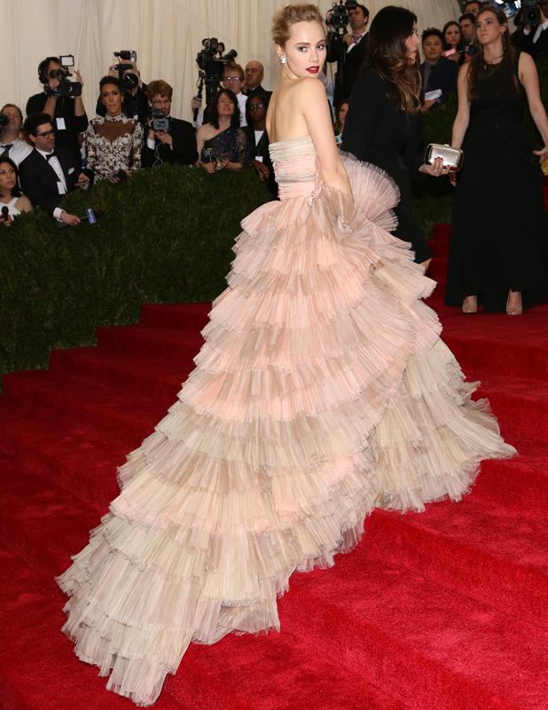 Suki Waterhouse at the Beyond Fashion Costume Institute Gala at the Metropolitan Museum of Art, 5 May 2014