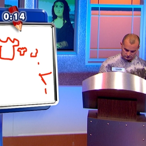 Louie Spence - Screenshot from Channel 4's Draw It! - sent by Premier PR 14 May 14