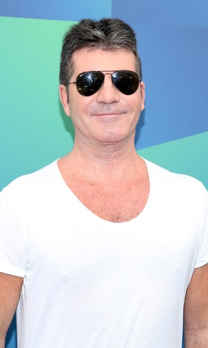 Simon Cowell at the 2014 Univision Upfront at Gotham Hall - Red Carpet Arrivals 13 May 2014.