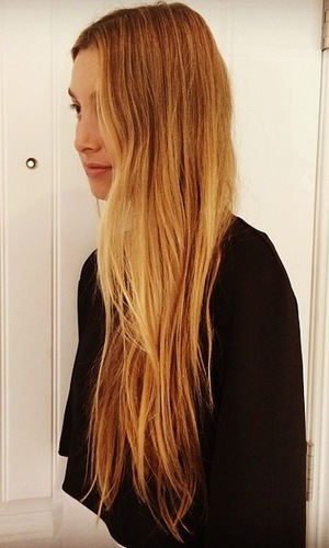 Whitney Port shows off long golden blonde hair in an Instagram picture - 4 April 2014