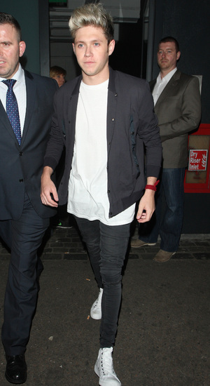 Niall Horan arrives at David Beckham H&M swimwear collection launch party at shoreditch house. 05/15/2014 London, United Kingdom