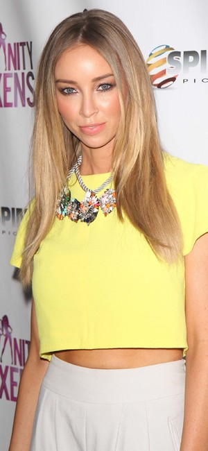 TOWIE's Lauren Pope attends the Coco & The Vanity Vixens burlesque show launch party in New York, America - 12 May 2014