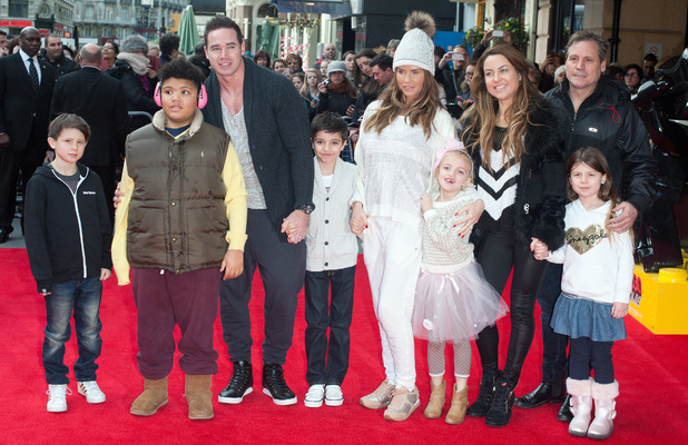 The Lego Movie - VIP film screening held at the Vue West End. Katie Price, Junior Savva Andreas Andre, Princess Tiaamii Crystal Esther Andre, Harvey Price, Kieran Hayler, Jane and Derrick Pountney 02/09/2014 London