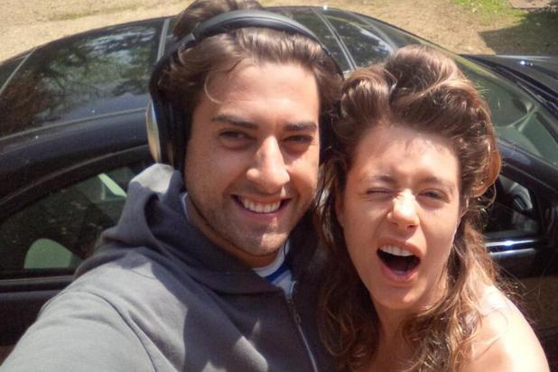 TOWIE's James 'Arg' Argent poses for picture with Lettice Rowbotham at bootcamp. (16 May).