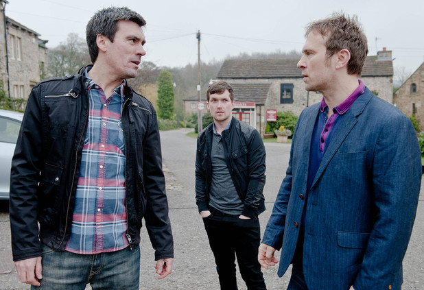 Emmerdale, Cain and Declan row, Wed 14 May