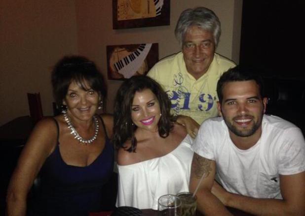 Jessica Wright and Ricky Rayment share holiday pictures during their holiday in Florida - 16 May 2014 The couple have dinner with Ricky's parents