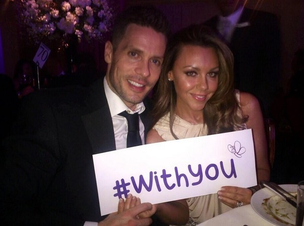 Michelle Heaton tweets picture of her and husband, Hugh Hanley - Butterfly Ball, Grosvenor House - 15 May