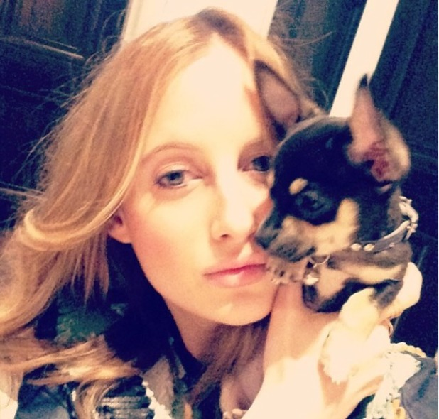 Rosie Fortescue selfie, May 14.