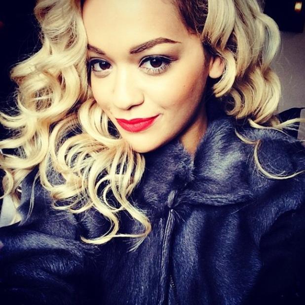 Rita Ora posts selfie to Instagram en-route to Glasgow. (12 May).