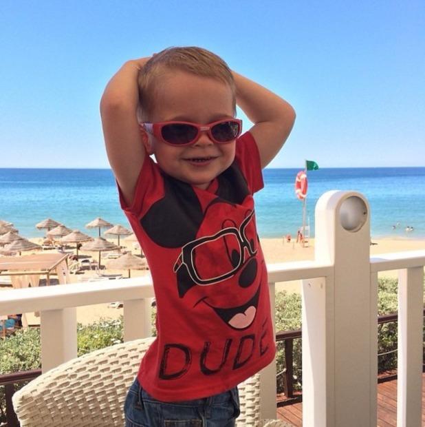 Danielle Lloyd's son Harry poses like a model, May 14