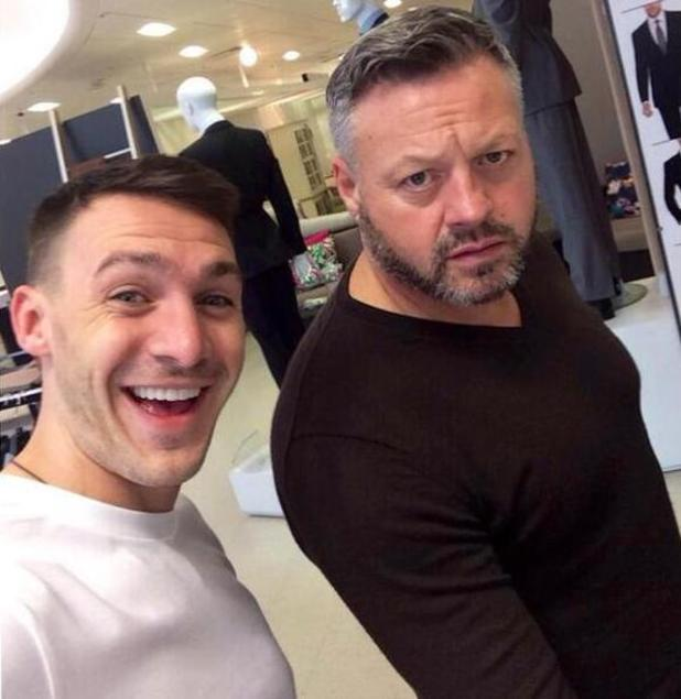 Kirk Norcross and Mick Norcross pictured during another shopping trip together - 13 May 2014
