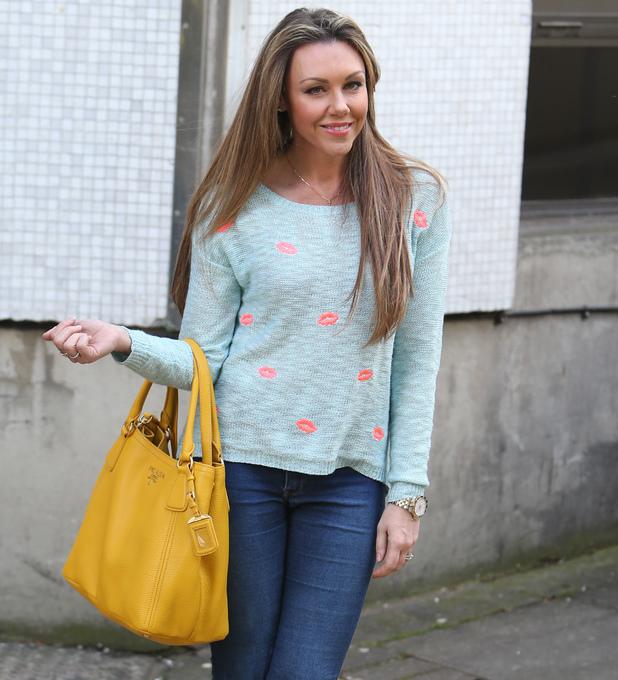 Michelle Heaton outside ITV Studios ahead of Loose Women appearance - 14 May 2014