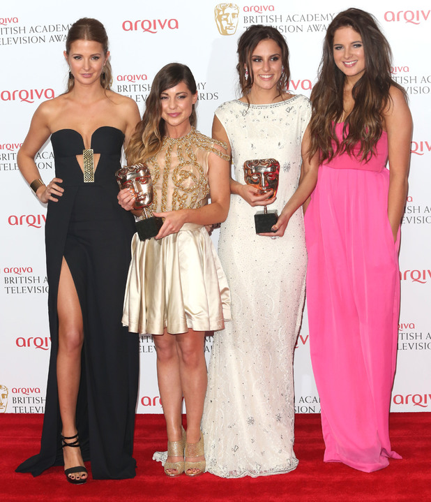 Millie Mackintosh, Louise Thompson, Binky Felstead and Lucy Watson attend the Arqiva British Academy Television Awards (BAFTAs) 2013 in London, England - 12 May 2013