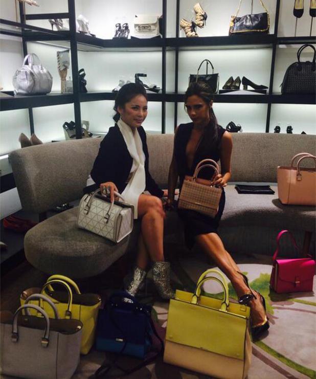 Victoria Beckham in Jakarta promoting her accessories range. (13 May).