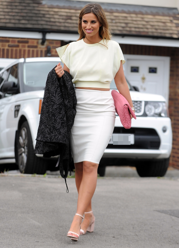 Ferne McCann attends Billie Faiers' baby shower in Brentwood, Essex - 11 May 2014