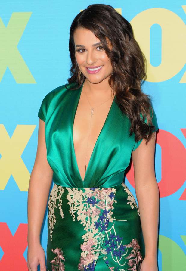 Lea Michele attends the 2014 Fox Upfront event in New York, America - 12 May 2014
