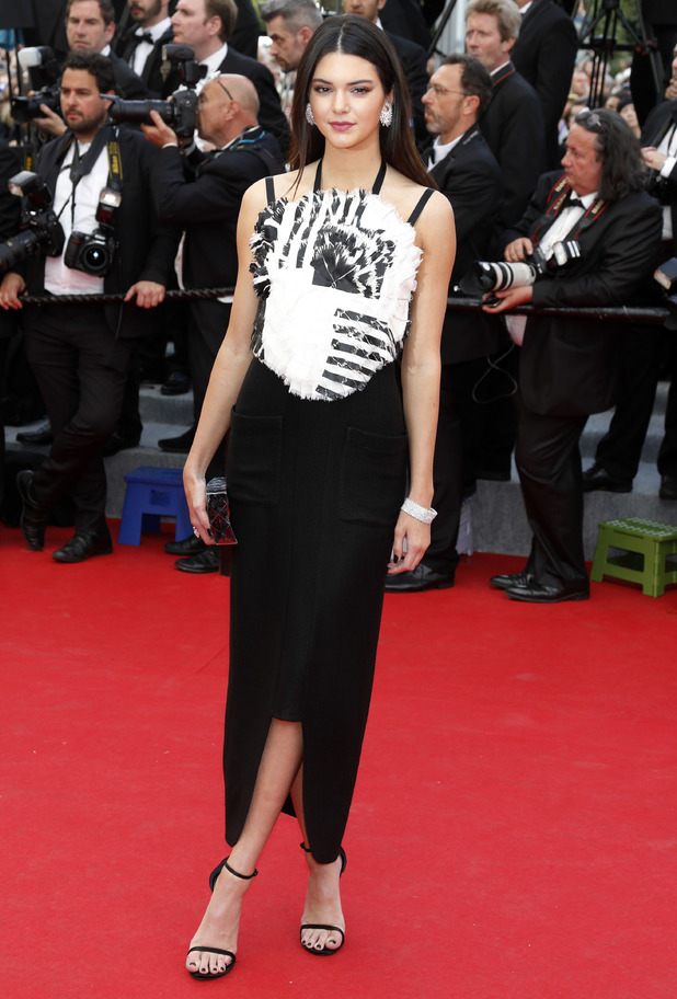 Kendall Jenner wears a Chanel gown at the Grace of Monaco film premiere at Cannes Film Festival - France - 14 May 2014
