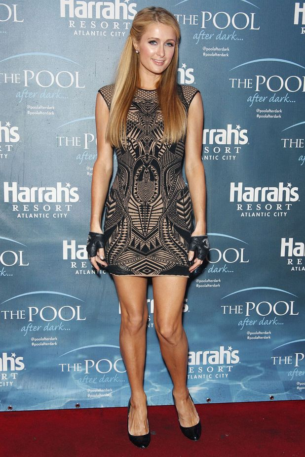 Paris Hilton steps out at The Pool at Harrah's Resort for her DJ residency in Atlantic City, New Jersey, America - 10 May 2014