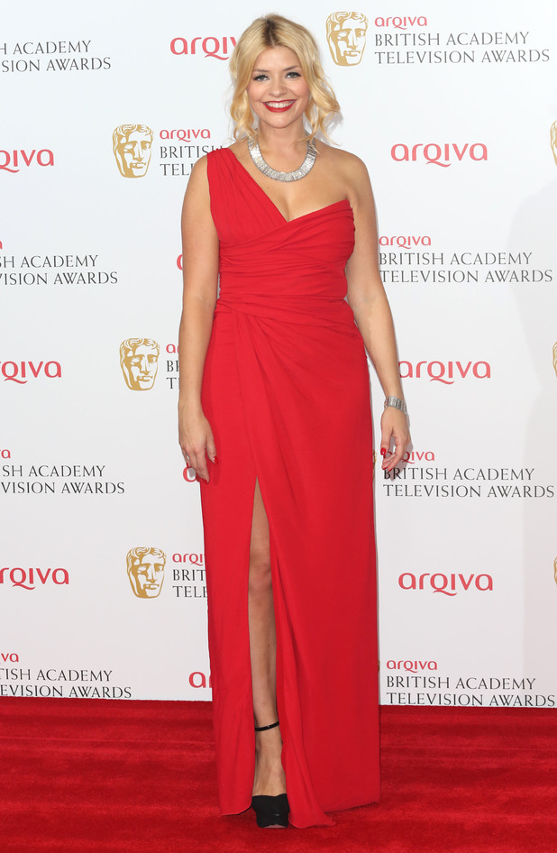 Holly Willoughby attends the Arqiva British Academy Television Awards (BAFTAs) 2013 in London, England - 12 May 2013