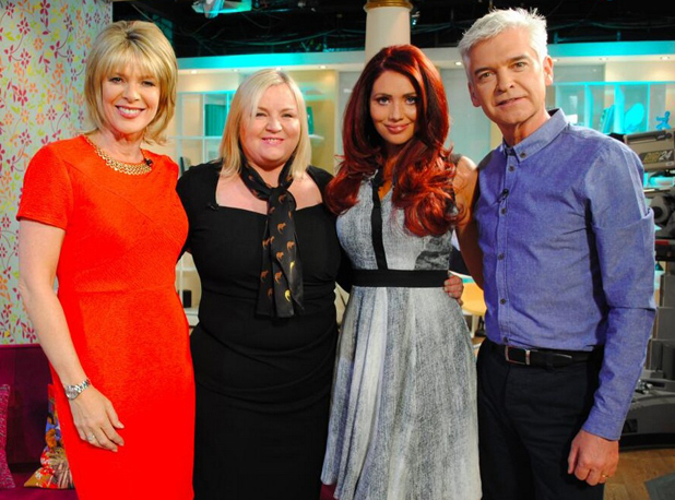 Amy Childs and her mum Julie after appearing on ITV's This Morning, 13 May 2014