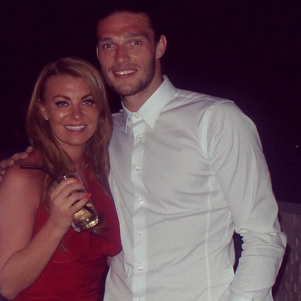 Billi Mucklow and boyfriend Andy Carroll in Dubai, 14 May 2014