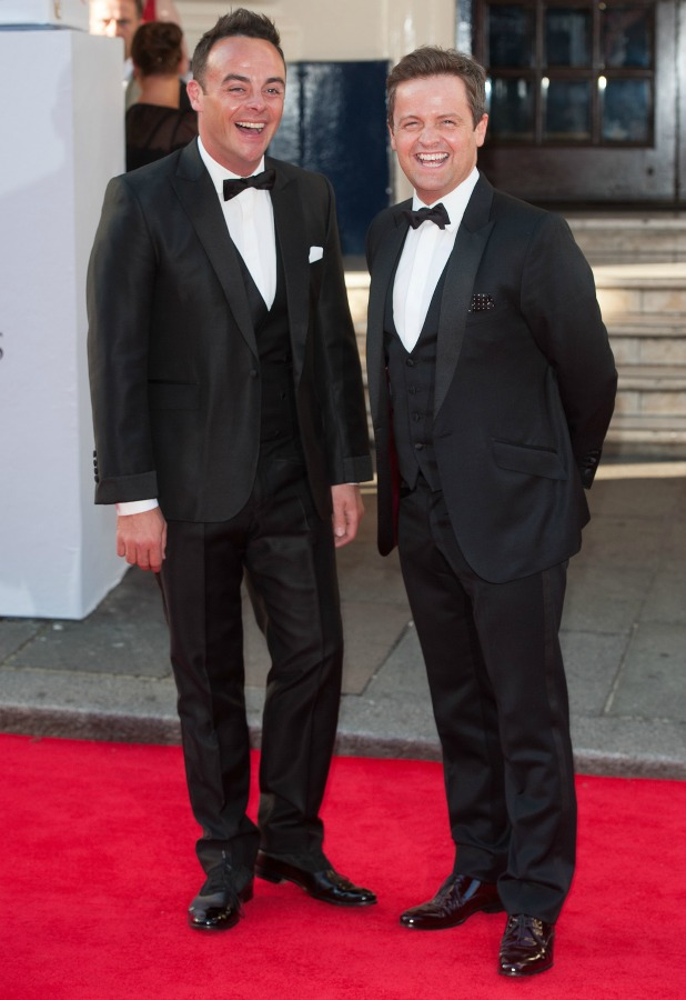 Ant and Dec, Arqiva British Academy Television Awards held at the Theatre Royal, Drury Lane - Arrivals, 18 May 2014