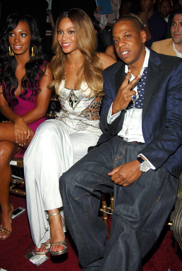 MTV Video Music Awards, New York, America - 31 Aug 2006 Solange Knowles, Beyonce Knowles and Jay-Z