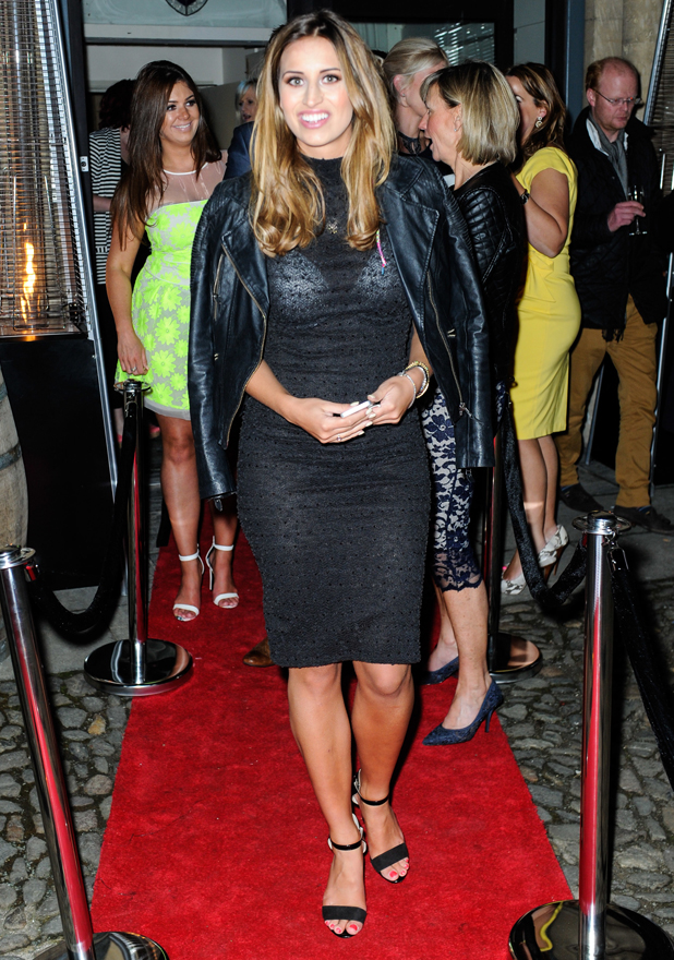 TOWIE star, Ferne McCann, seen leaving the St Nicholas Cafe, Bar and Spa in Shrewsbury after officially opening the Spa earlier in the day, 13 May 2014