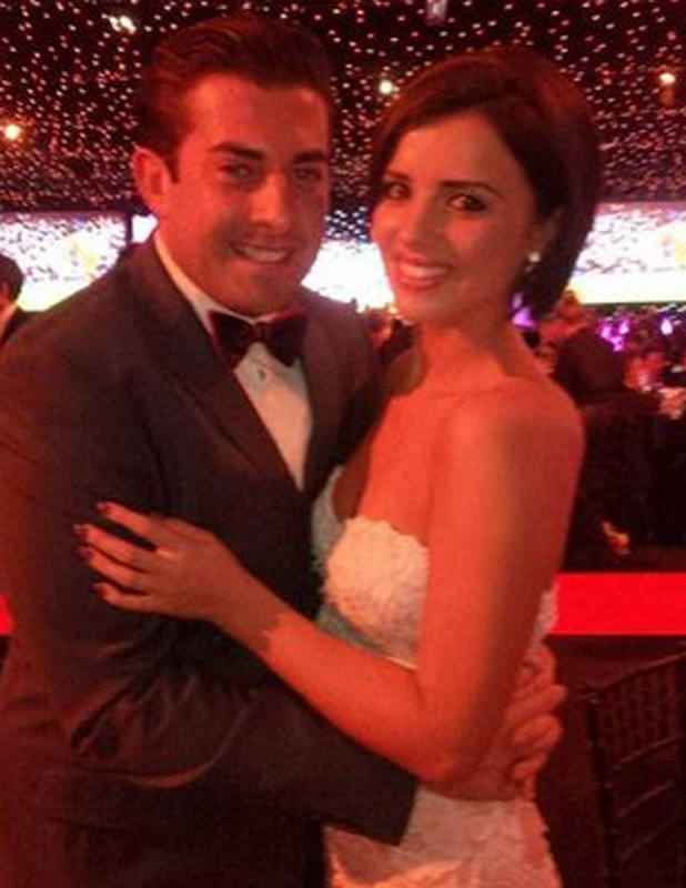 James Arg Argent meets up with Lucy Mecklenburgh and jokes she should return to TOWIE so he can perve on her, 15 May 2014