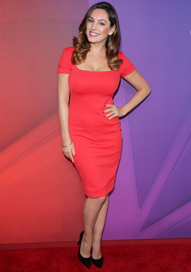 Kelly Brook promoting One Big Happy at the NBC Upfront, New York, America - 12 May 2014