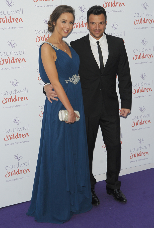 Emily MacDonagh and Peter Andre attend the Caudwell Children Butterfly Ball held at The Grosvenor House Hotel in London, UK, 15 May 2014