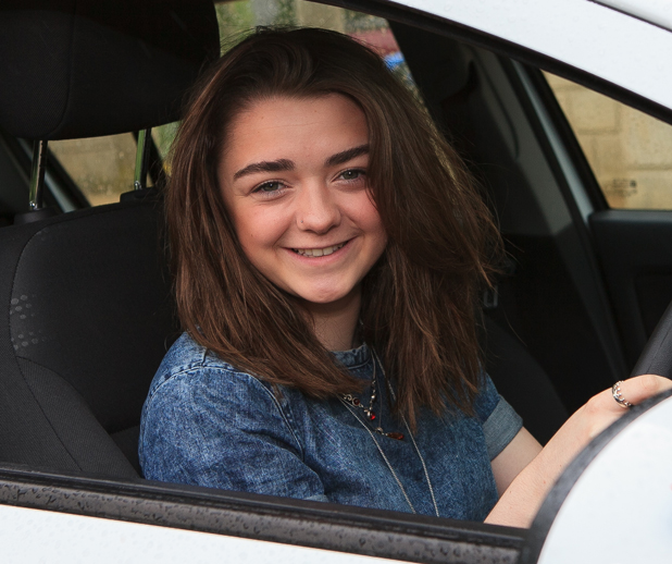 Game of Thrones star Maisie Williams takes driving lessons with RED Driving School, May 2014