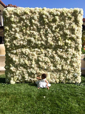 Kim Kardashian gifted with wall of flowers by Kanye West on her first Mother's Day, 11 May 2014