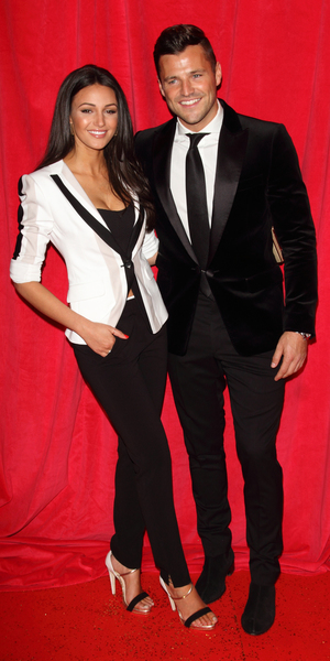 Michelle Keegan and Mark Wright attend British Soap Awards 2014 at the Hackney Empire, London, Saturday 24 May 2014