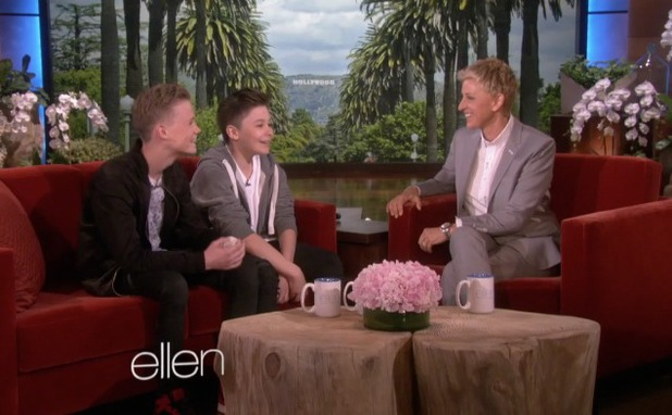Britain's Got Talent act Bars and Melody appear on The Ellen DeGeneres Show in the US (22 May).