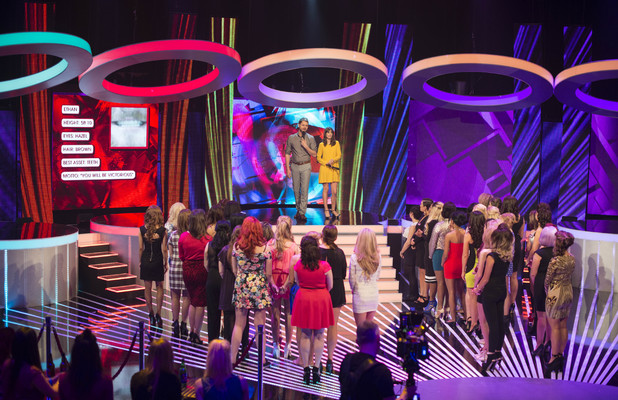 Brian McFadden and Laura Jackson, Stand By Your Man set, Channel 5 April 2014 Reveal use only