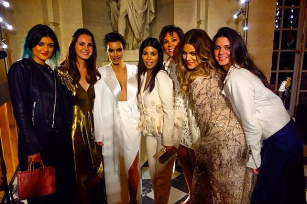 Kim Kardashian poses for an all-female family portrait with singer Lana Del Rey, 23 May 2014
