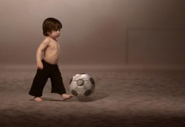 Shakira's baby son Milan stars in her music video for 'La La La (Brazil 2014). 23 May 2014.