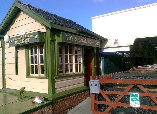 The smallest pub in the world - The Signal Box Inn