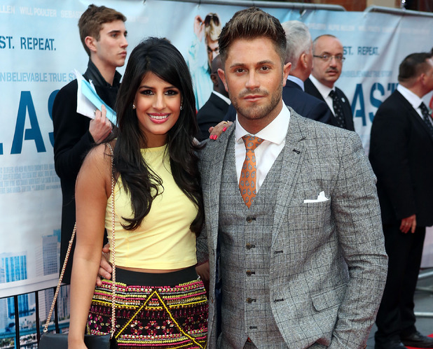 Jasmin Walia and Ross Worswick at the World Premiere of Plastic at the Odeon West End 04/29/2014 London, United Kingdom