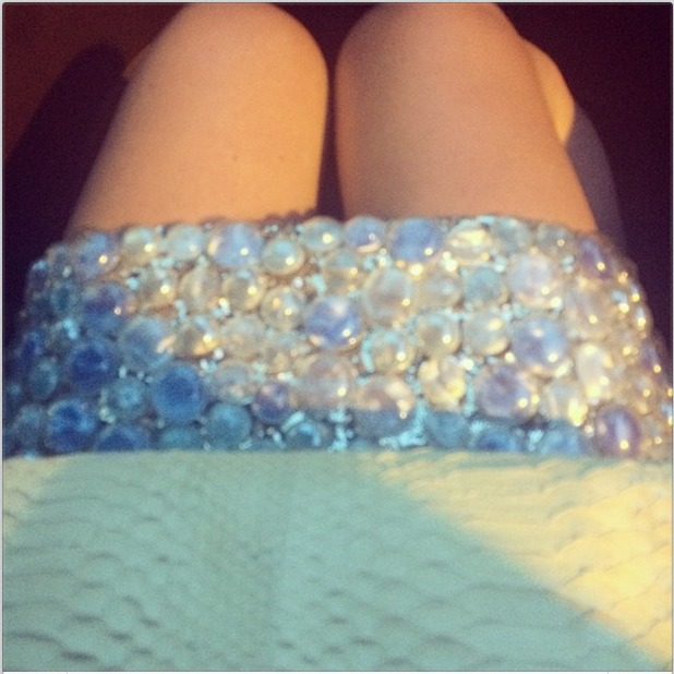 Lily Allen shares photo of her dress from Cannes 20/05/14