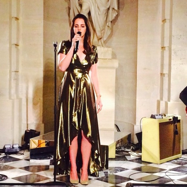 Singer Lana Del Rey performs at Kim Kardashian and Kanye West's pre-wedding dinner in Versaille, 23 May 2014
