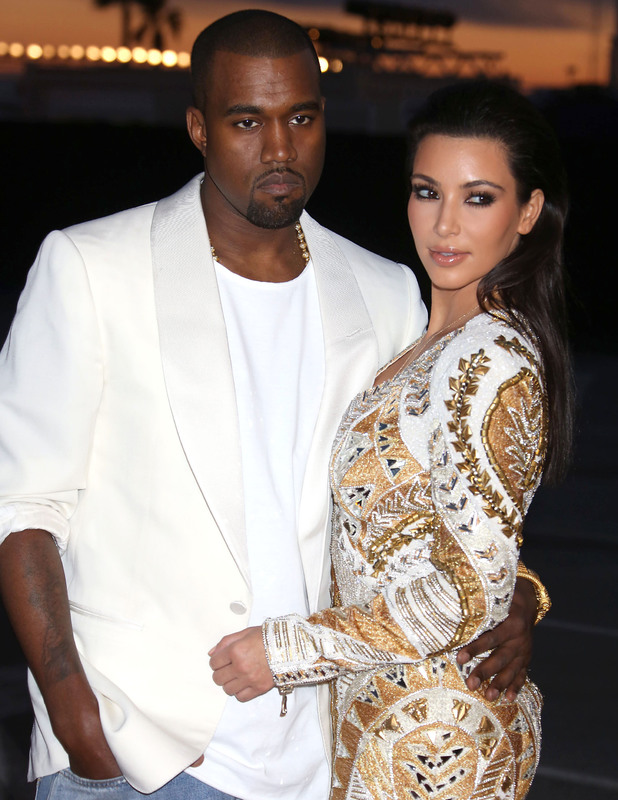 Kanye West and Kim Kardashian at the Cruel Summer' premiere during the 65th Cannes Film Festival - Arrivals 05/23/2012 Cannes, France
