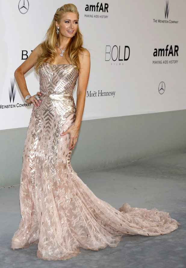 Paris Hilton steps out at the amfAR Cinema Against Aids 2014 Gala at Cannes Film Festival in Cannes, France - 22 May 2014