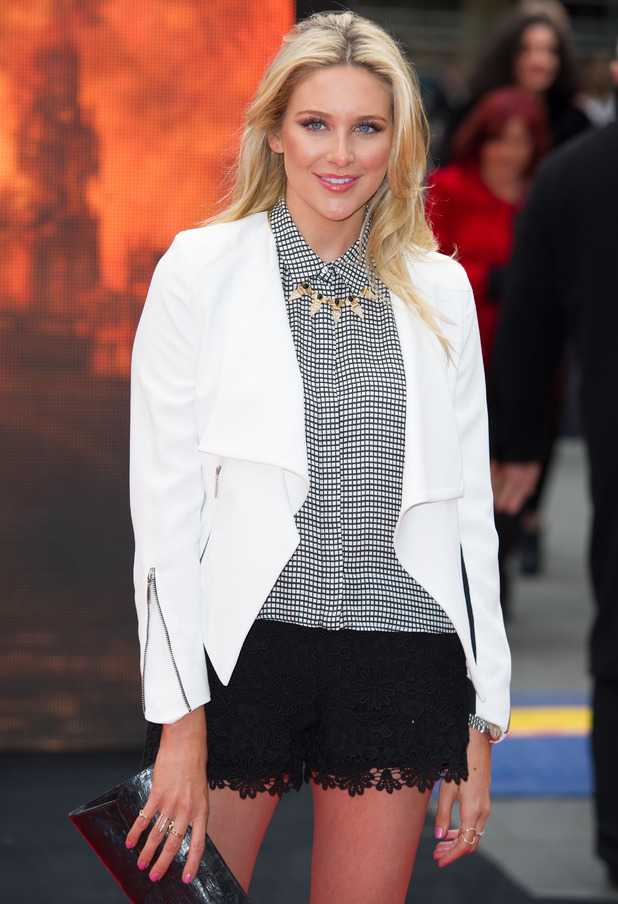 Stephanie Pratt attends the film premiere for Godzilla in London, England - 11 May 2014