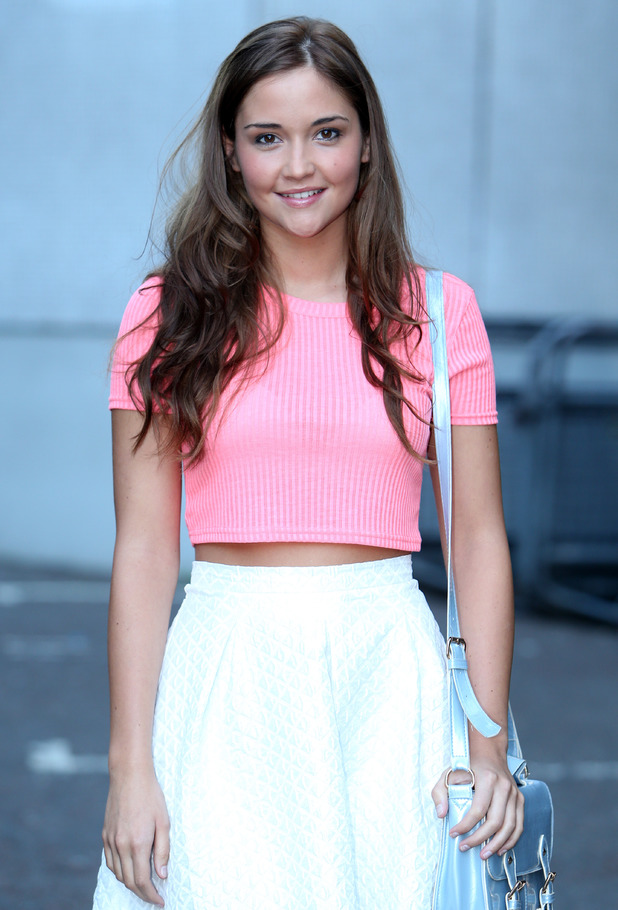 Jacqueline Jossa outside ITV Studios 05/15/2014 London, United Kingdom