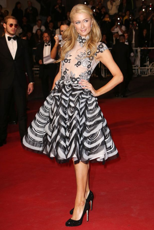 Paris Hilton attends the premiere of The Rover at Cannes Film Festival in France - 18 May 2014