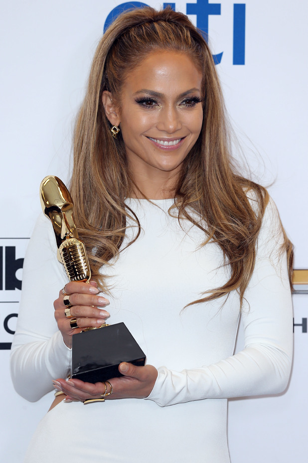 Jennifer Lopez holds her Icon Award at the 2014 Billboard Music Awards in Las Vegas, America - 18 May 2014