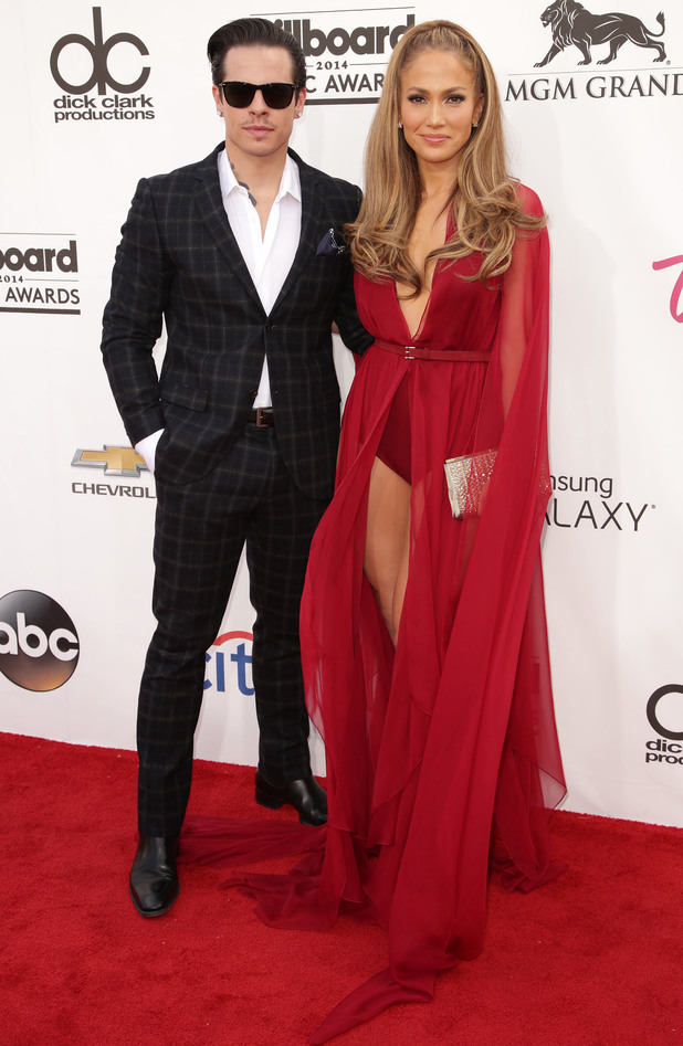 Jennifer Lopez and Casper Smart attend the 2014 Billboard Music Awards in Las Vegas, America - 18 May 2014