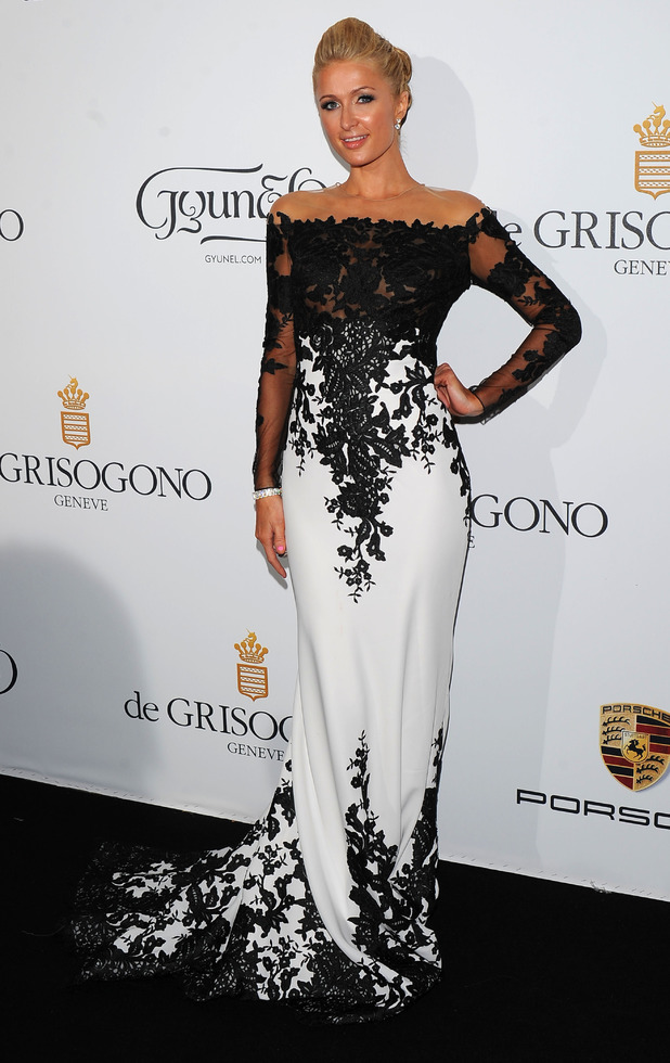 Paris Hilton wears a Jean Fares couture gown at the de Grisogono 'Fatale In Cannes' party in Cannes, France - 20 May 2014